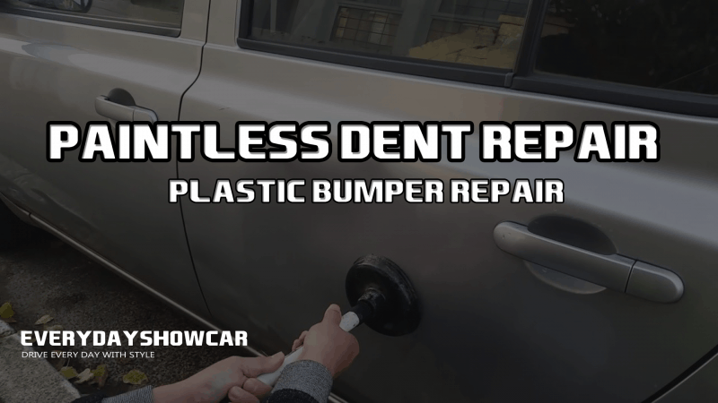 How to perform paintless dent repair on a plastic bumper