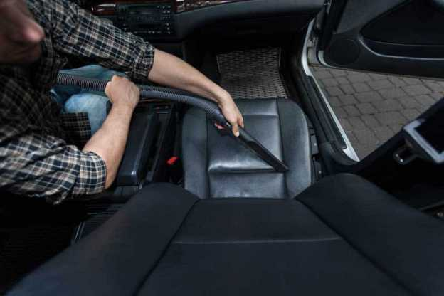 clean car seat folds and crevices