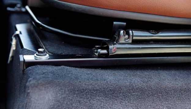 Car seat rails