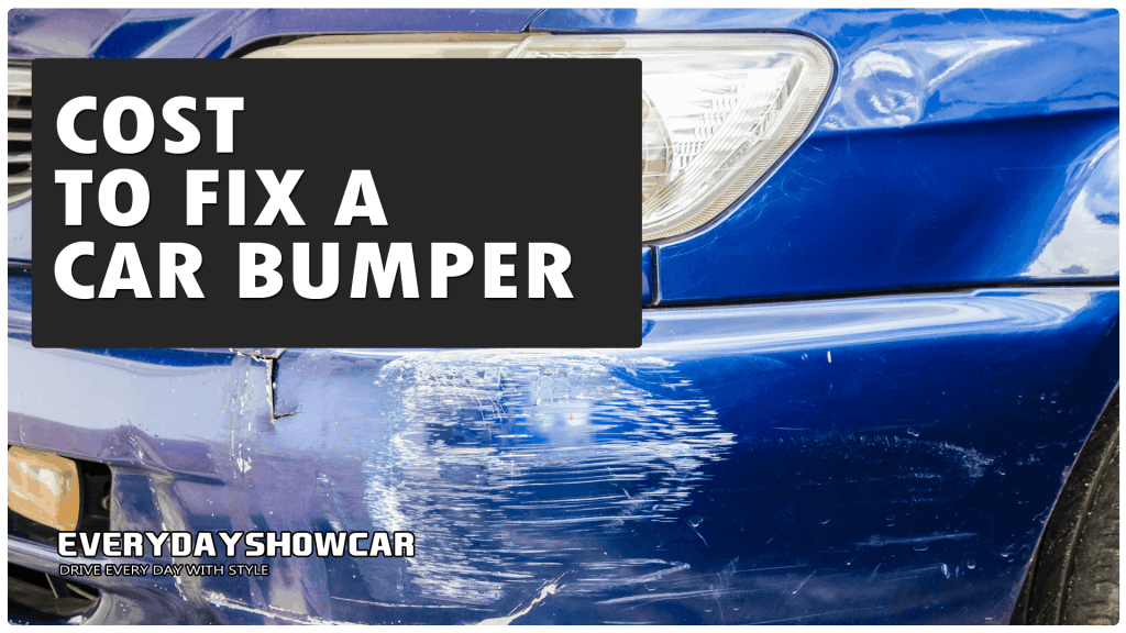 How much does it cost to fix a car bumper?