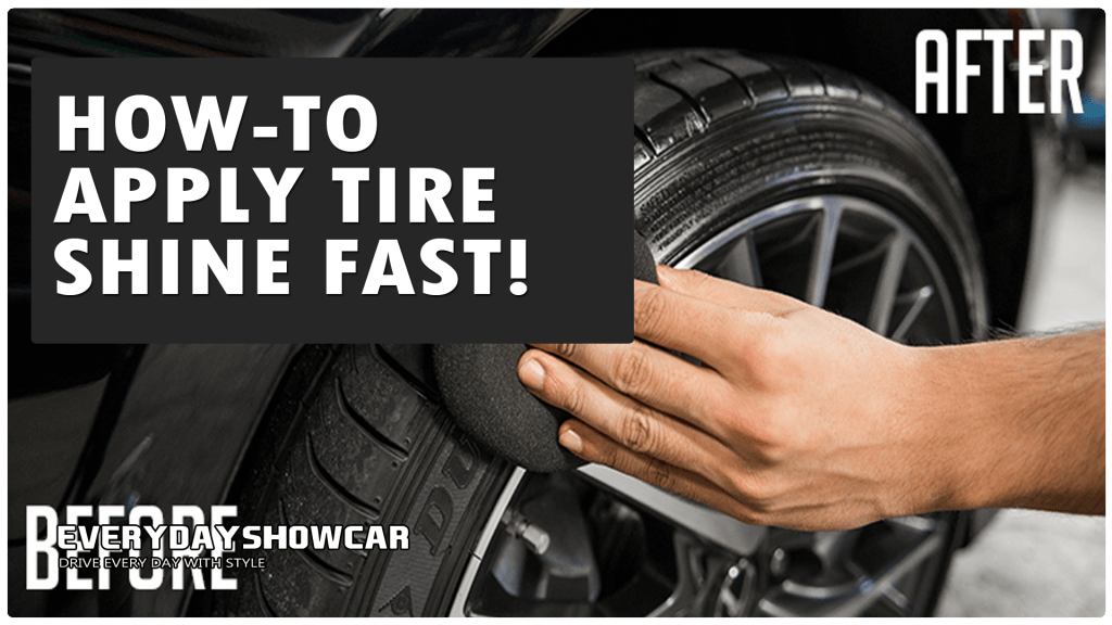 How To Apply Tire Shine In Minutes (5-Step Guide)
