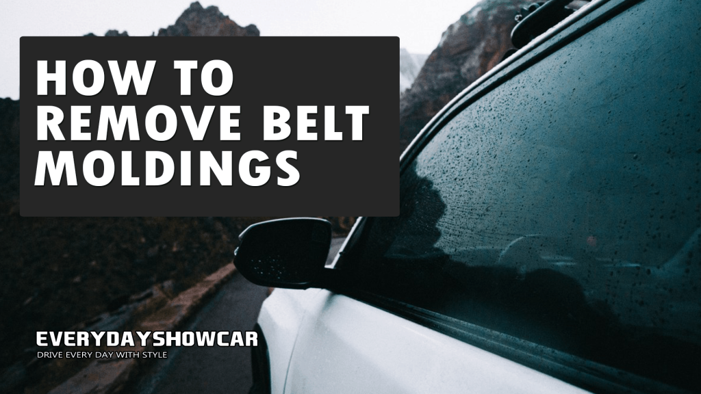How To Remove Belt Moldings Without Bending Them!